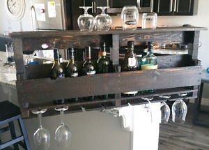 Large Rustic Pallet Wine/ Liquor Rack