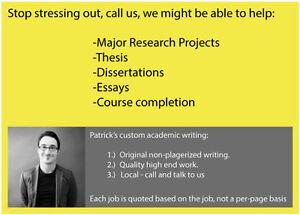 Academic Writing: Original quality work. Call or text us. Kingston Kingston Area image 1