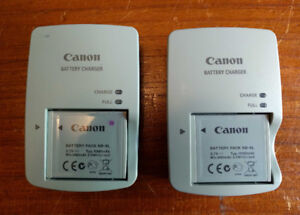 2 Canon CB-2LY Chargers & 2 NB-6L Batteries.