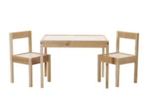 Latt childrens table and chairs