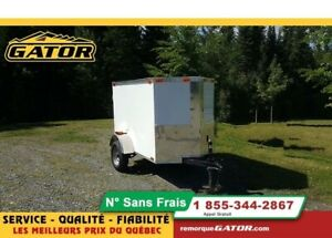 2019 GATOR FERMÉE V-NOSE 4X6 SIMPLE ESSIEU
