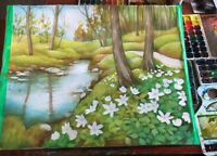 SPRING NATURE AND LANDSCAPE ELEMENTS, WATERCOLOR CLASSES