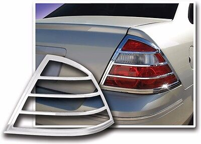 FITS FORD TAURUS 2008 2009 FACTORY-FIT CHROME TAIL LIGHT TRIM BEZELS
