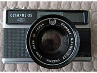Olympus 35 LC Rangefinder 35mm Camera. Fast 42mm f1.7 lens. VERY RARE!