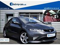 2011 61 Honda Civic 1.8i- VTEC Type S GT Grey with Red Leather | Pan Roof | FDSH