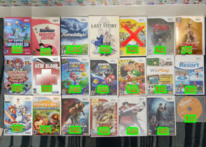 Nintendo Wii Games ( Prices in Picture ) Pick up only
