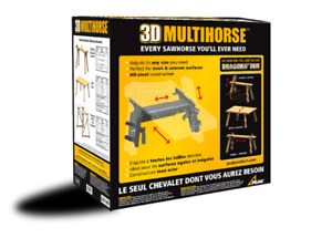 Two 3D Multihorse sawhorses