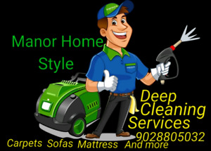 Manor home style upholstery deep cleaning services