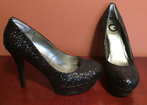 Black Sparkle Guess Heels Size 8.5 - $20 Or Best Offer