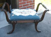 Vintage Petit Point Bench / Seat