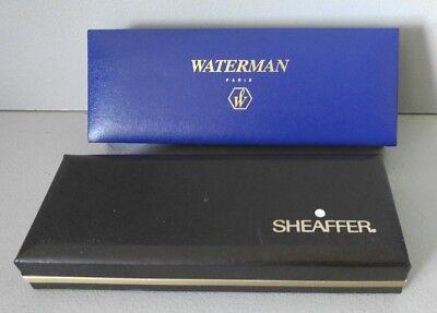 Excellent Waterman Paris Green Marble Ball Point Pen+2 Scheaffer White Dot NIB