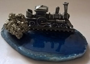 Vintage Miniature Locomotive Train Steam Engine on Mini Track