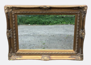 Grand miroir orné antique / Large Ornate Antique Mirror