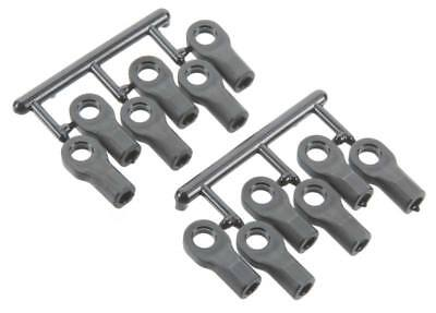 (RPM Black Short Rod Ends (12) for 1/10 Traxxas - Replaces TRA5347)
