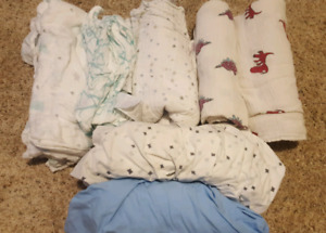 Swaddle blankets and crib sheets