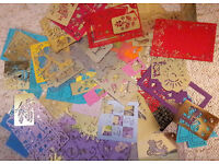 80 metal stencils for cardmaking