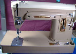 SINGER 404 SLANT NEEDLE SEWING MACHINE HEAVY DUTY VERY GOOD COND