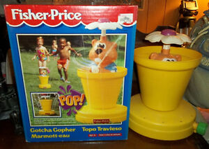 Fisher Price Gotcha Gopher Sprinkler & Squirter 1994 London Ontario image 1