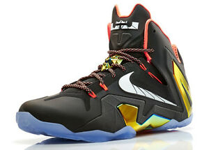 NIKE LEBRON XI ELITE BLACK/GOLD SIZE 11