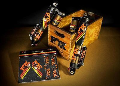 Fox Float Atv - Fox Heritage Decal Sticker Kit ORANGE Limited Edition for ATV Float Evol Shocks