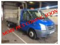 2011 61 FORD TRANSIT 2.4 T350L E/F DRW 115 BHP DROPSIDE RWD DIESEL