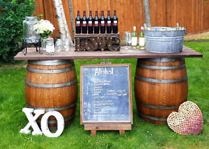 Wine Barrel Tables for rent Strathcona County Edmonton Area image 2