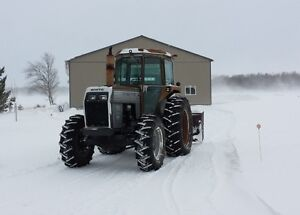 White 2-85 Tractor with cab and 8ft snowblower