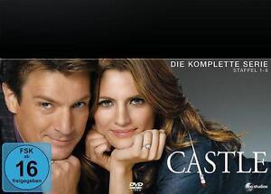 Castle - komplette Serie - Nathan Fillion & Stana Katic - DVD - deutsch - neu