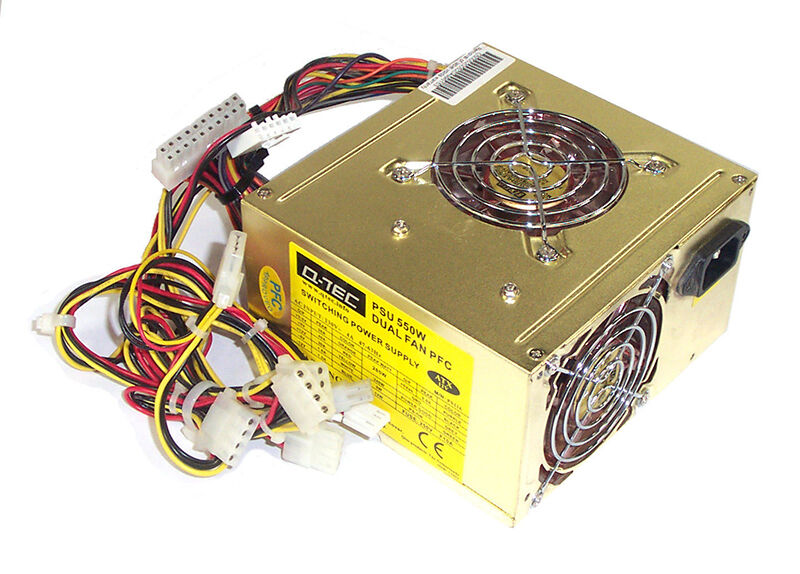 Q Tec ST PSU 400W Dual Fan Gold