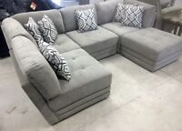 Brand New Fabric Five Piece sectional with toss cushions $1700