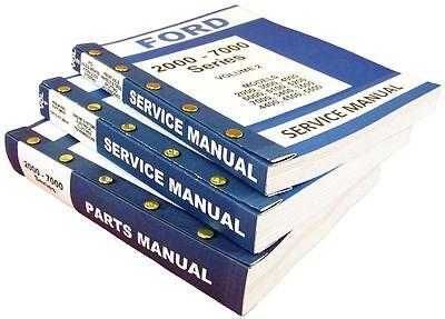 Lot New Ford 5200 5000 Series Tractor Service Repair Shop Parts Manuals Catalog