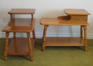 Wonderful maple end table set from the 60's