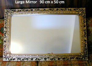 Vintage 4 mirrors old world style, elaborate, large, gold colour