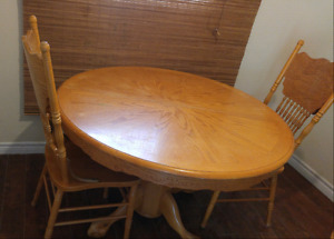 Table & chairs $60
