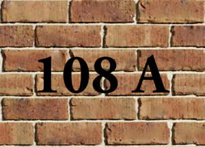 "House Numbers and Letter ""108A"" wanted"