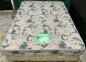 Excellent double bed spring mattress with base. Pick up or deliver