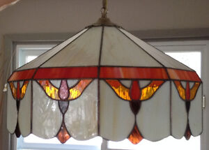 Multi-colour Stained Glass Hanging Kitchen Light