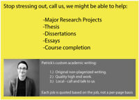 Academic Writing: Original quality work. Call or text us.