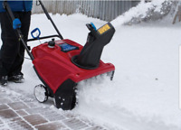 Driveway snow clearing today Mon