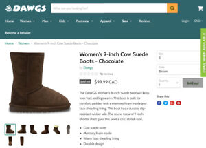 Brand new size 5 Women/girl DAWGS winter boots