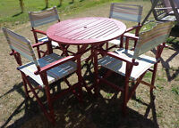 Moving Sale must go Wooden folding Patio Set