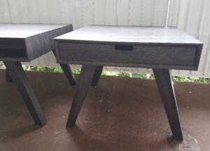 2 Dark Grey Modern Coffee Table/NightStand