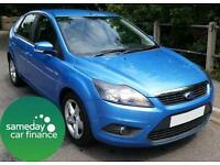 £112.60 PER MONTH BLUE 2009 FORD FOCUS 1.6 ZETEC 5 DOOR PETROL MANUAL