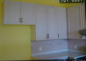 Upper and lower cabinets & countertop