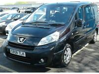 2008/08 PEUGEOT EXPERT E7 2.0 HDI BLACK DISABLED WHEELCHAIR ACCESS 2 KEYS
