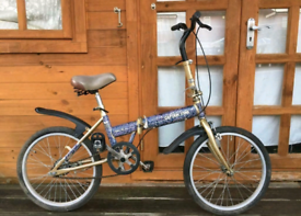 "Captain Stag folding single speed bike. 20"" wheels. Fully working"