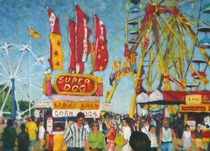 Canadian National Exhibition - oil painting by John Musial