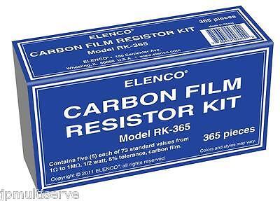 365 Pc Carbon Film Resistor Kit 12 Watt Elenco Rk-365