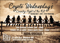 Coyote Wednesday's - Country Night in Richmond Hill