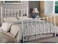 Cast Iron Sea Shell King Size bed incl. Mattress'